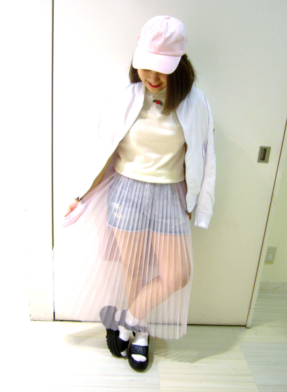 WEGOイオンモール倉敷店▼本谷×新作チュールロングスカート▼